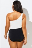 Modern One Shoulder One Piece Swimsuit for Lady